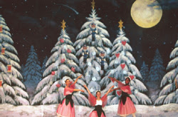 Land of Dreams backdrop created for Windham Nutcracker ballet