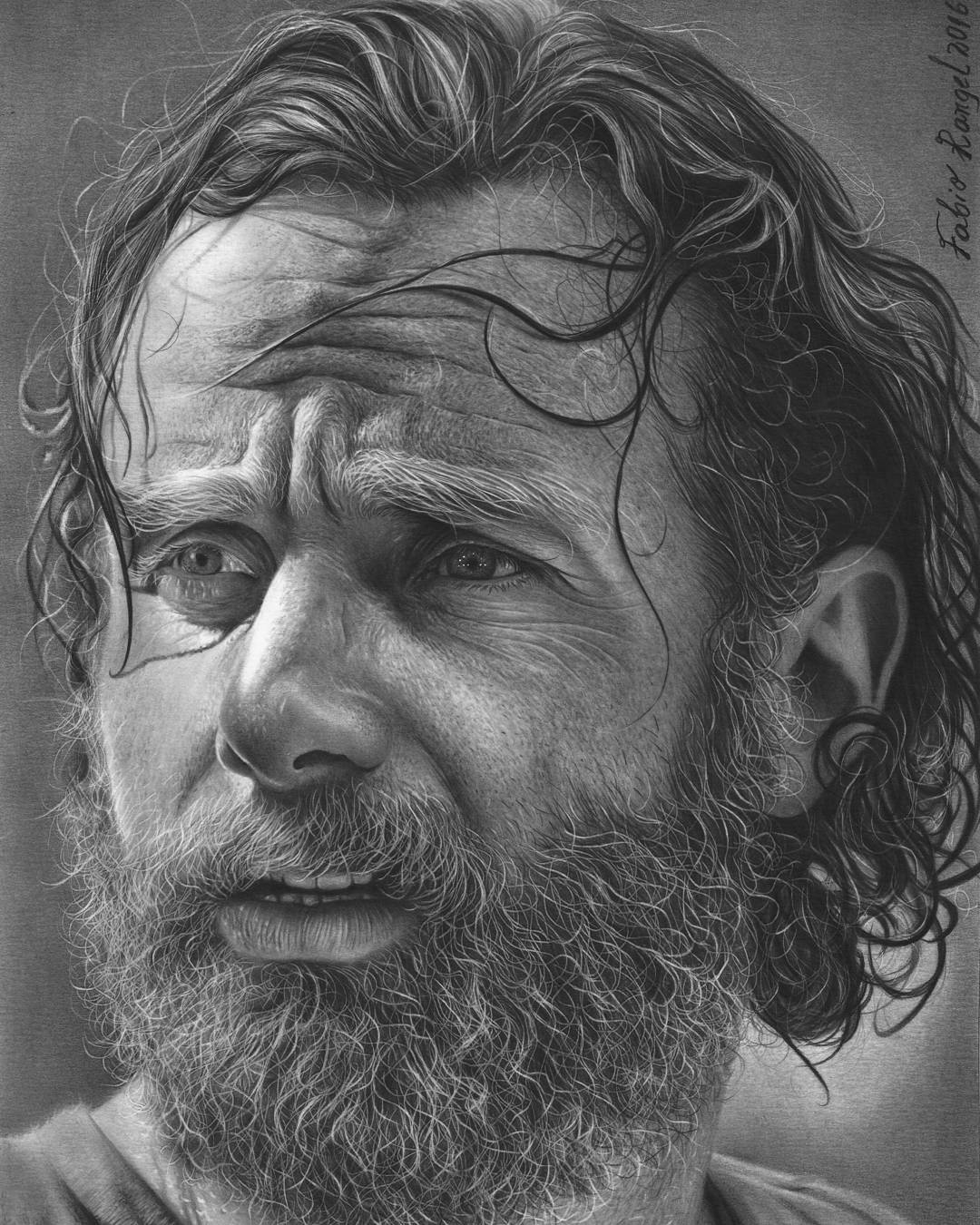 02-Rick-Grimes-The-Walking-Dead-Fabio-Rangel-Drawings-of-Protagonists-from-TV-and-Movies-www-designstack-co