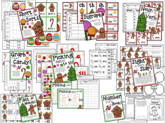 http://www.teacherspayteachers.com/Product/Gingerbread-Man-Literacy-Units-8-Math-Literacy-Stations-998150