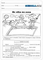 Atividades para o 4° ano do ensino fundamental de Português