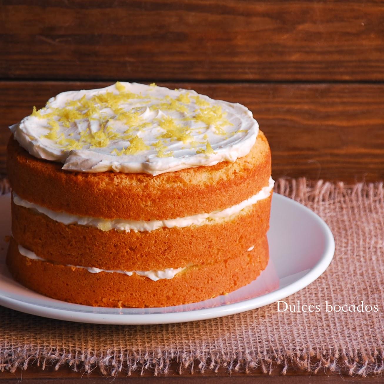 Dulces bocados recetas de cocina paso a paso - Bizcocho de limon esponjoso ...