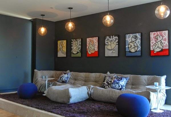 Jolis murs d 39 accent pour votre salon d coration salon for Decoration maison games