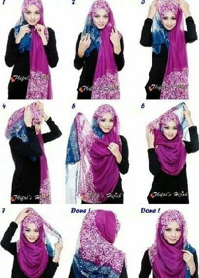 Tutorial Style Hijab Pashmina Silegan (Simple Elegan)