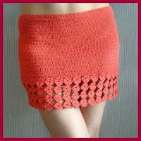 Minifalda a crochet