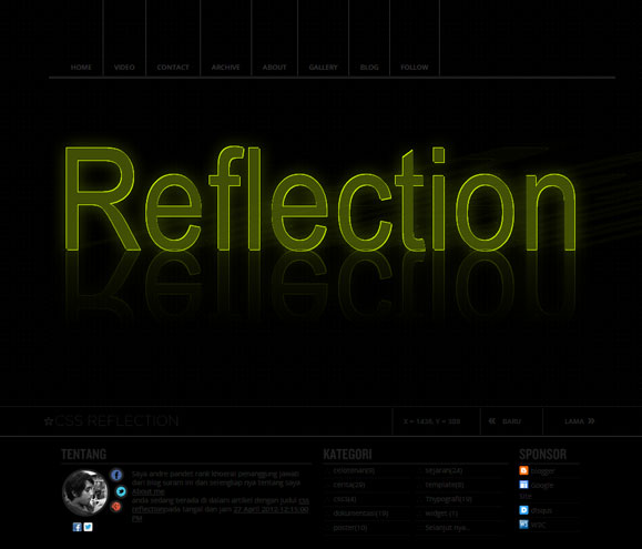 css reflection