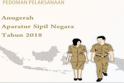 Pedoman Pelaksanaan Anugrah ASN Tahun 2018