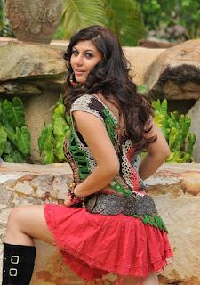 Sara Sharma in Short Red Skirt