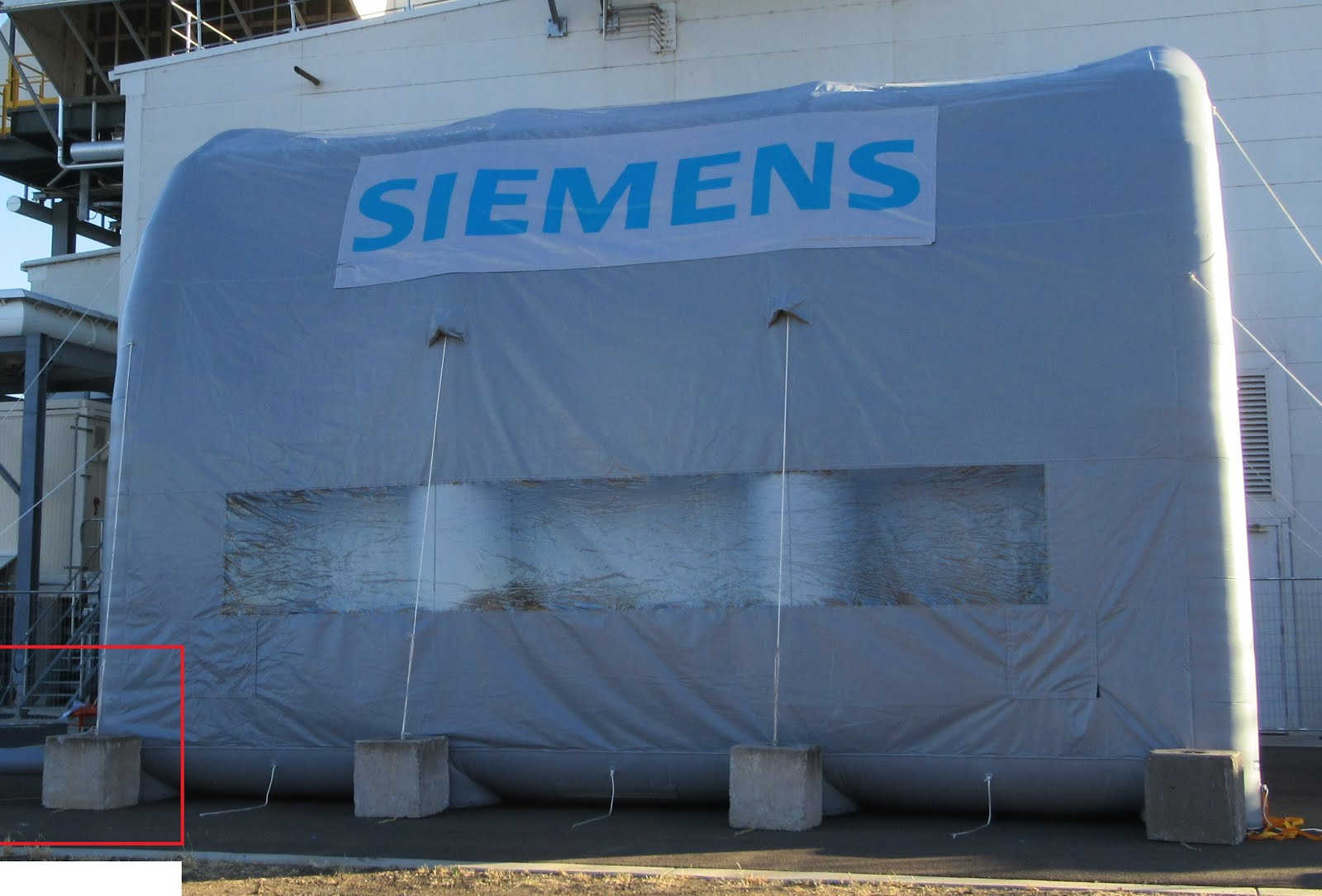 Siemens Inflatable Blasting Shelter - Case Study