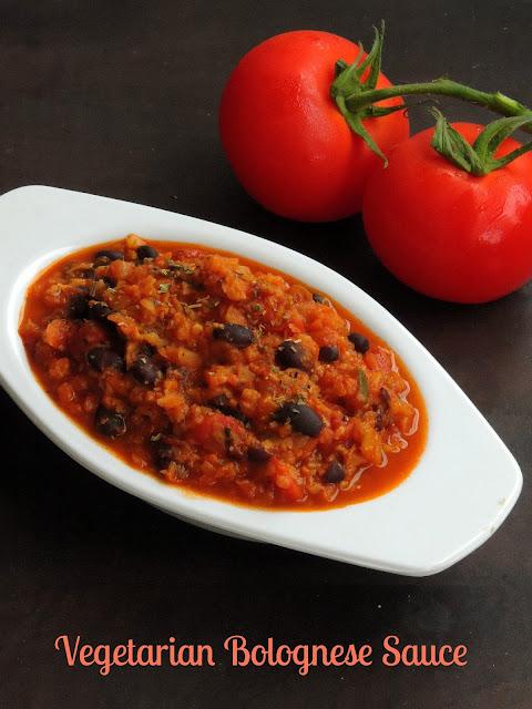 Vegetarian Bolognese Sauce, Vegetable & beans Bolognese sauce