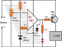 Simple Low Voltage Cutoff Circuit | Advance Wiring Diagrams