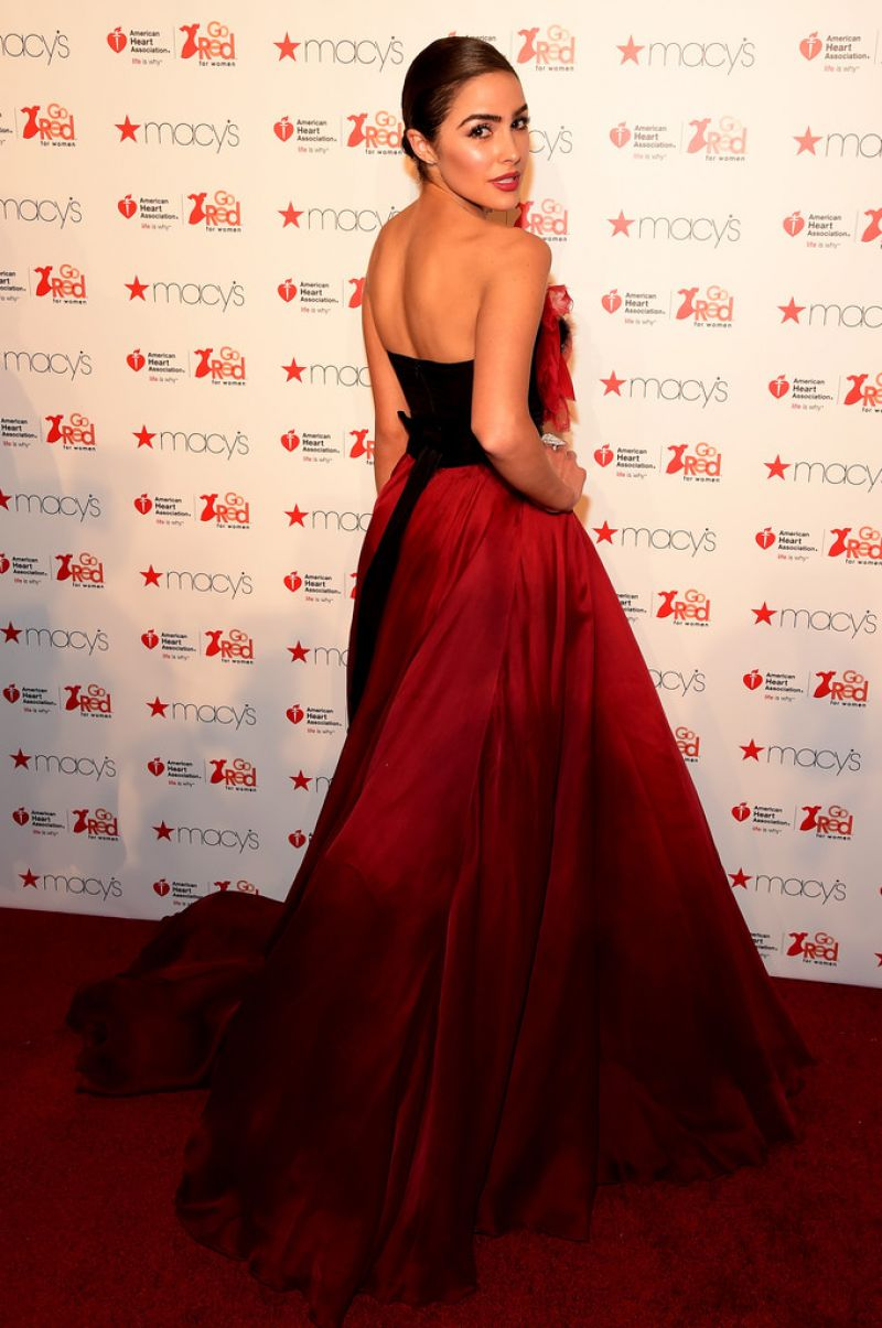 Olivia Culpo at Go Red for Women Red Dress Collection 2016