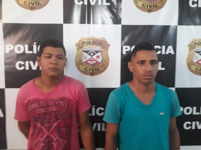 Polícia Civil apreenda arma e munições e dois são presos