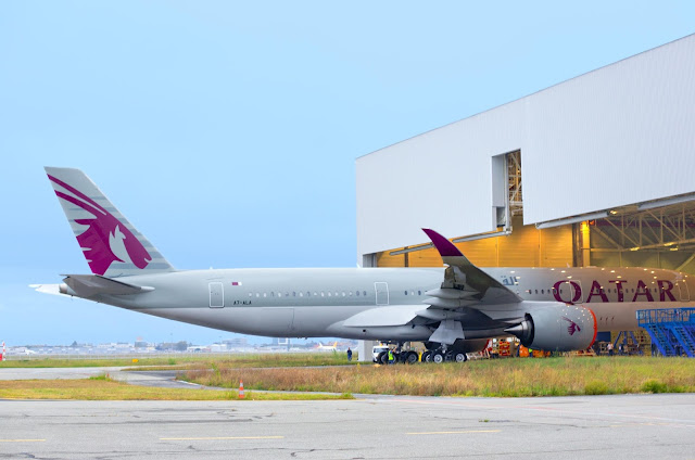 Qatar Airways Airbus A350-900 XWB Livery Rolled Out