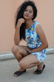Actress Priyankha Stills in Floral Short Dress at Golmal Gullu Movie Pressmeet 0307.JPG