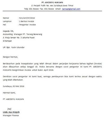 Contoh Surat Pengantar Dokumen Askarmi