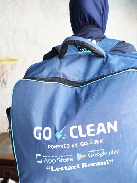review layanan GO-CLEAN di Jogja