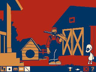 Extraterrestre y Redneck con escopeta.