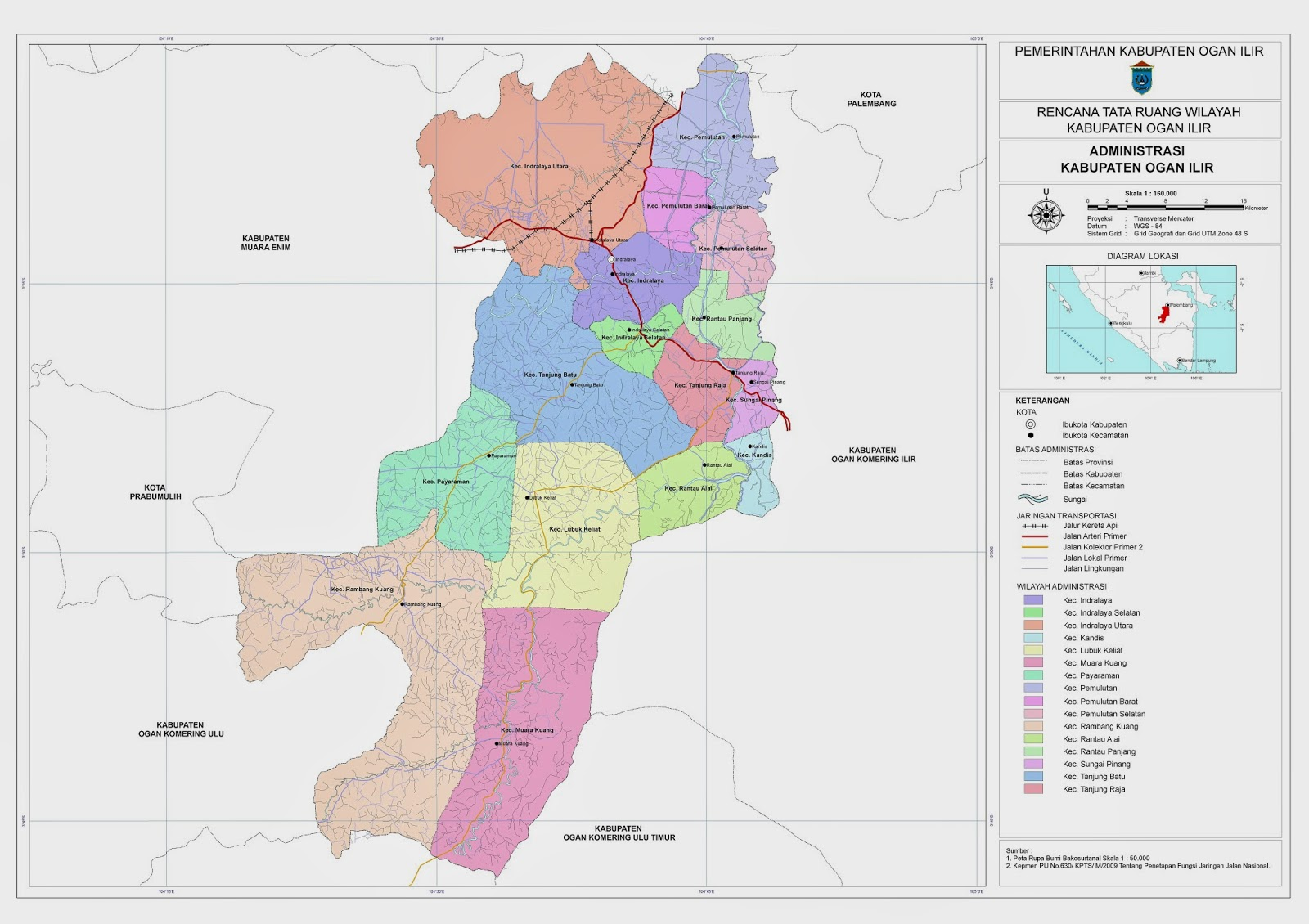 Peta Kota: Peta Kabupaten Ogan Ilir