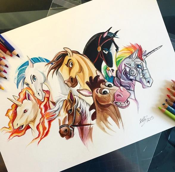 gambar keren kreatif dan menarik dengan menggunakan pensil warna-17