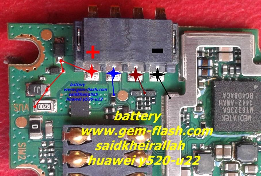 huawei y520-u22 hardware solution - သံဖြူ ဇရပ်, Schematic