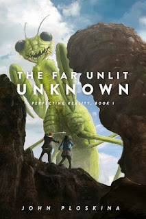 science fiction, sci-fi, action, adventure, eccentric detective, mismatched couple, multiverse, mad scientist, young adult sci-fi novel, john ploskina, far unlit unknown