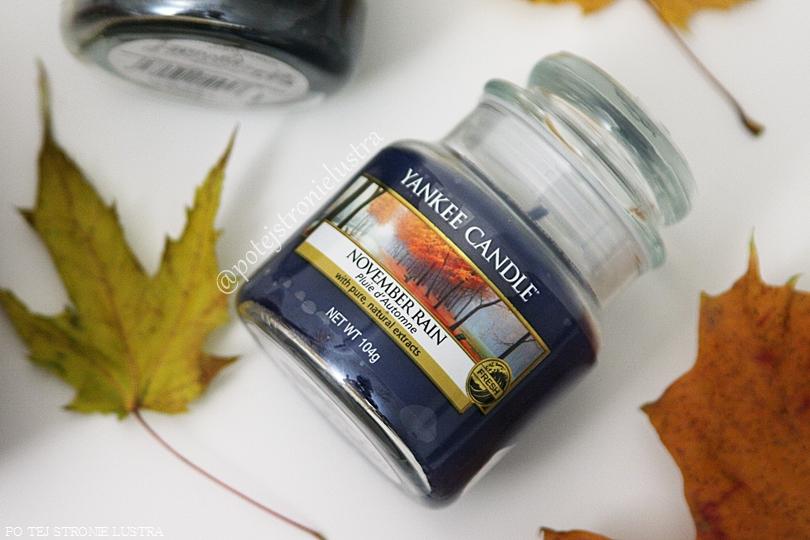 mała świeca zapachowa yankee candle november rain wycofana