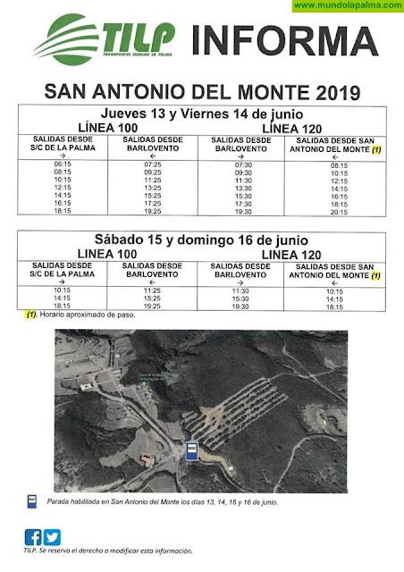 Horarios de guagua para San Antonio del Monte 2019 en Garafía