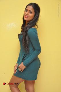 Telugu Actress Prasanthi Stills in Green Short Dress at Swachh Hyderabad Cricket Press Meet  0059.JPG