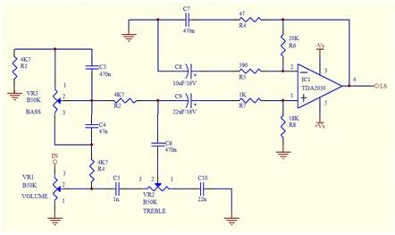 Schema Amplificateur Contr 244 Le De Tonalit 233 Compl 232 Te Tda2030