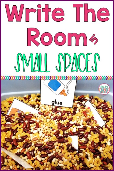 Write and count the room are fantastic activities for combining movement and learning, but having enough space can be challenging. Here is a great alternative for small spaces...