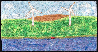 52 Ways to Look at the River, week 47 panel, by Sue Reno