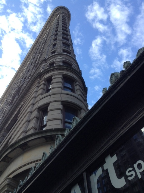 View of The Flatiron building, Broadway, New York City