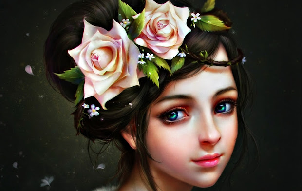 Beautiful Fantasy Girl Face Expression Digital Art Painting Hd Wallpaper Pixhome