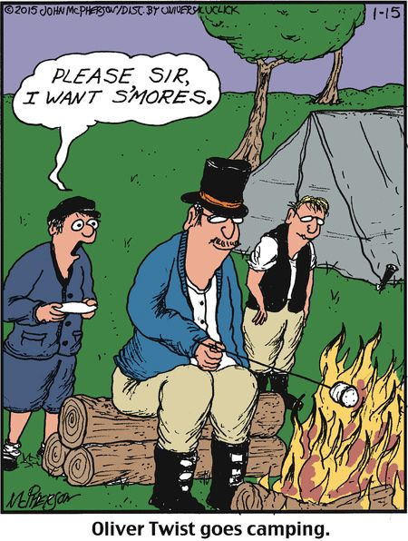 Mystery Fanfare Cartoon Of The Day Oliver Twist Goes Camping