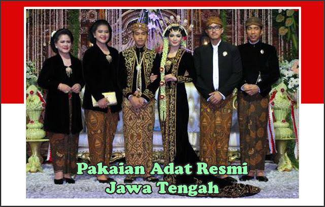 Gambar Pakaian adat resmi Jawa Tengah