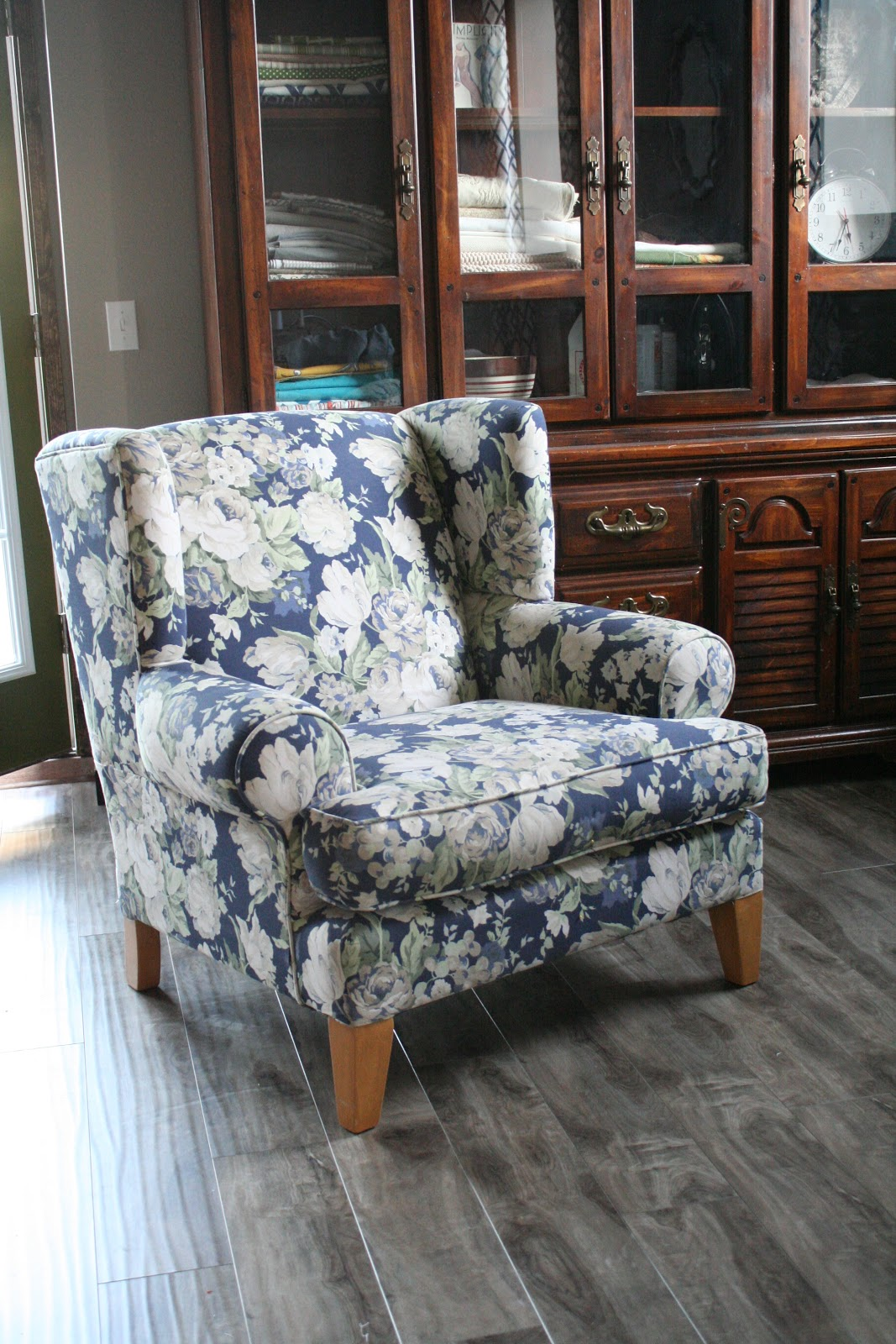 Custom Slipcovers By Shelley Pink Damask Wingback