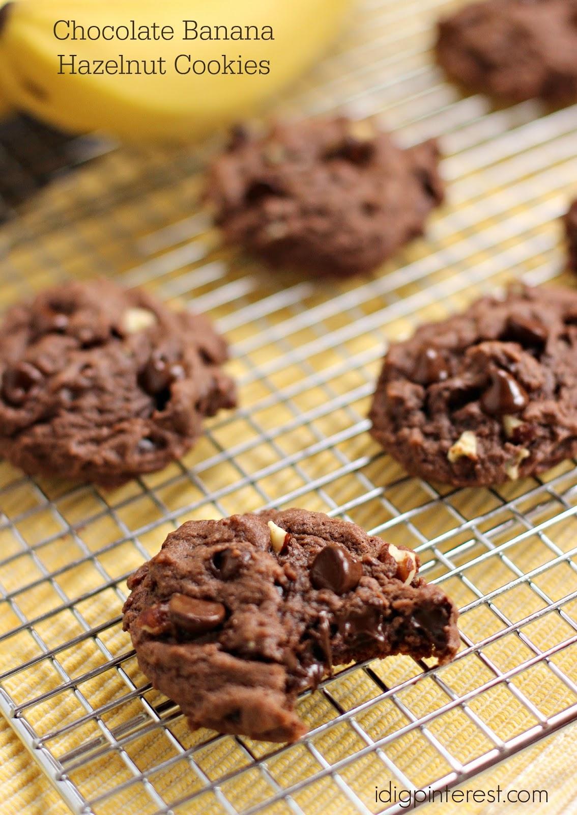 Chocolate Banana Hazelnut Cookies - I Dig Pinterest