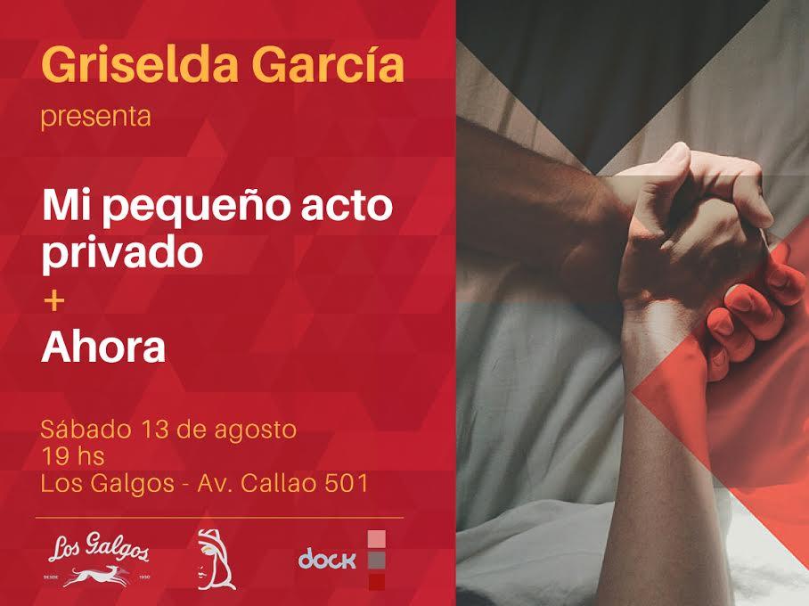 Afiche de la presentación de libros de Griselda García