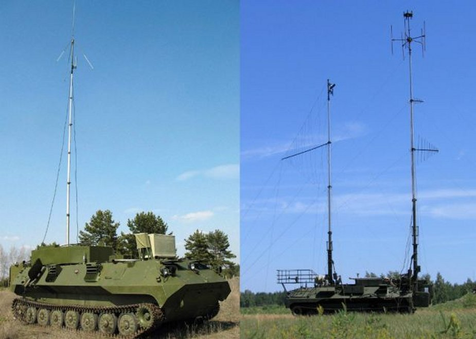 Borisoglebsk-2 EW system delivered to a Russian military base in