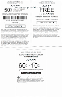 free Joann coupons for february 2017