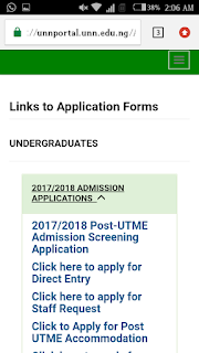 IS UNN POST UTME FORM OUT
