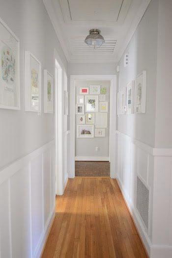 Colocar un friso de madera en el pasillo