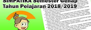 SIMPATIKA Semester Genap Tahun Pelajaran 2018/2019