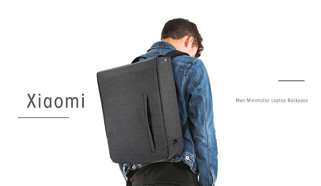 Coupon Xiaomi Men Minimalist Unique Laptop Backpack & Review