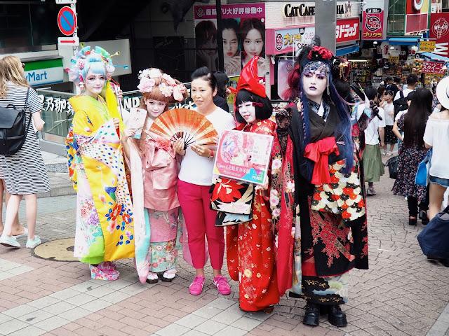 Harajuku girls in Takeshita Street, Tokyo, Japan