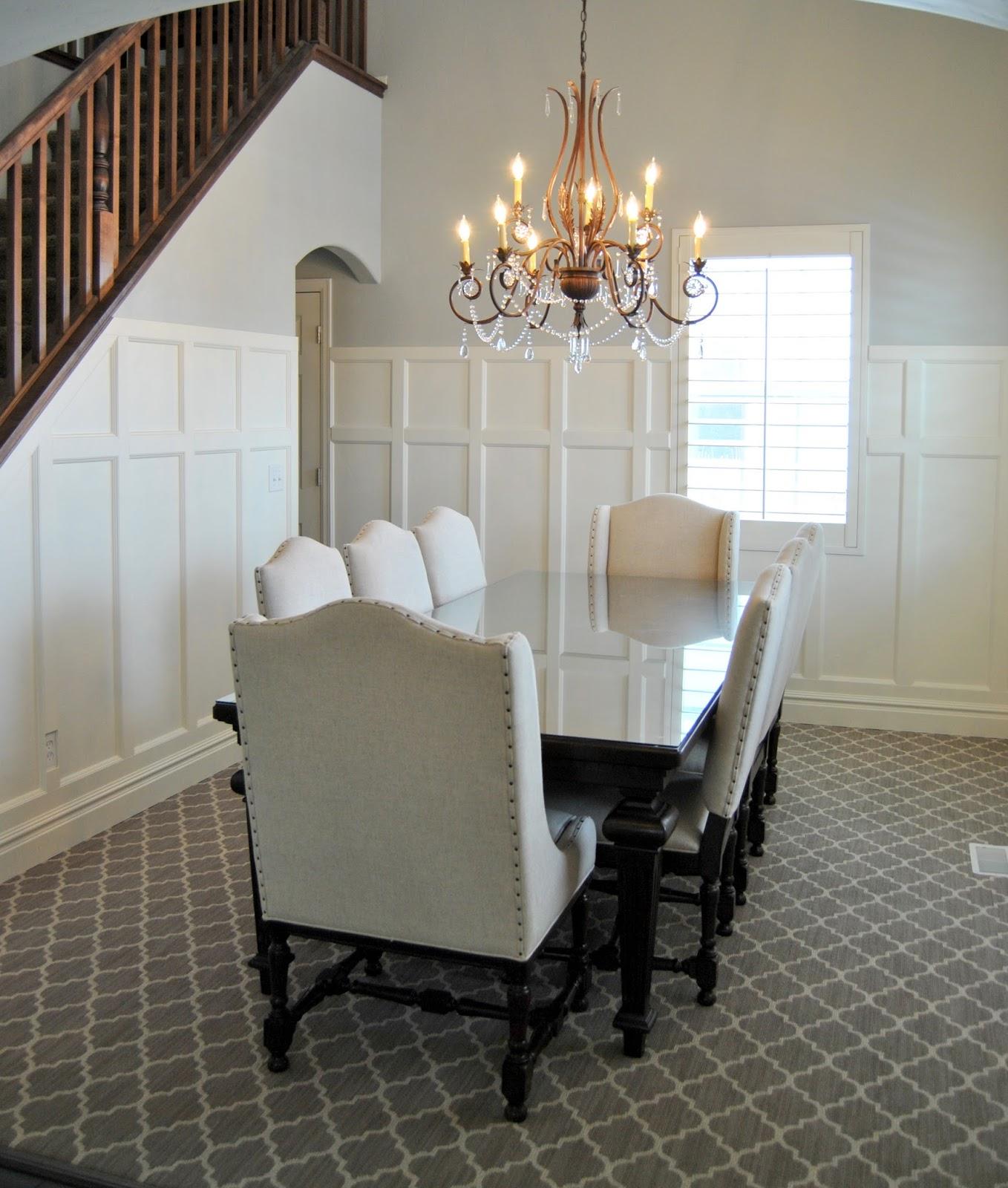 Chandelier Dining Room Board And Batten