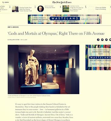 «Αληθινό θαύμα!» Οι New York Times υποκλίνονται στην Έκθεση του Ωνάσειου της Νέας Υόρκης