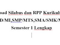 Download Silabus dan RPP Kurikulum 2013 SD/MI,SMP/MTS,SMA/SMK/MA  Semester 1 Lengkap