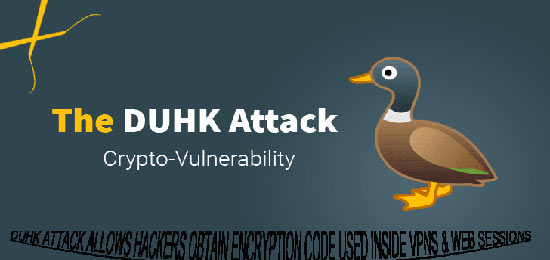 DUHK attack allows hackers obtain encryption code used inside VPNs & web sessions