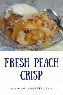 Fresh Peach Crisp